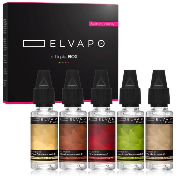 5 x 10ml Premium e-Liquid-BOX 2 mit Nikotin