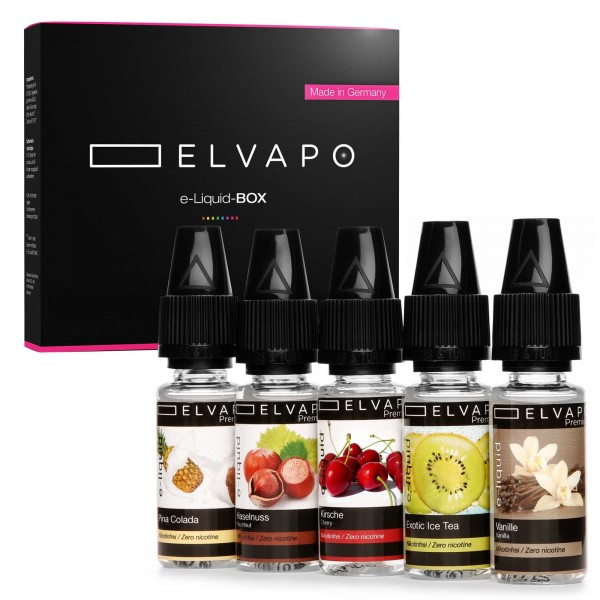 5 x 10ml Premium e-Liquid-BOX 2 ohne Nikotin