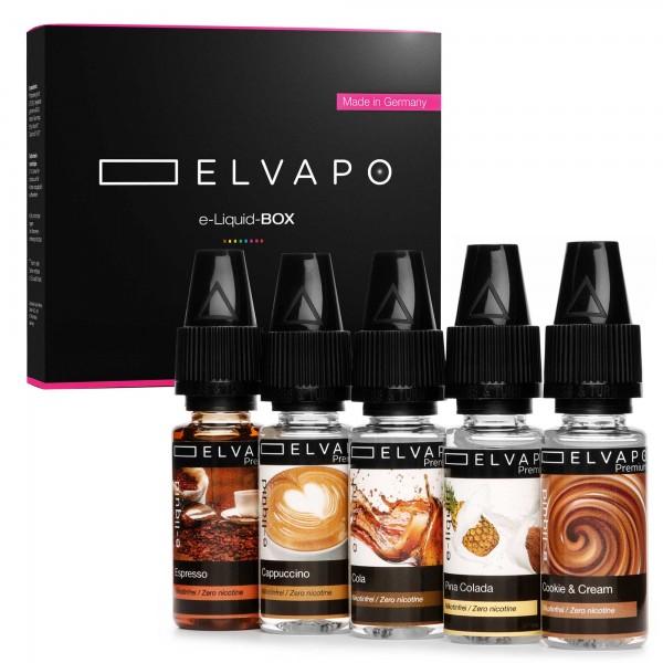 5 x 10ml Premium e-Liquid-BOX 8 ohne Nikotin
