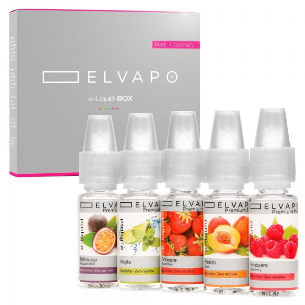 5 x 10ml Premium Plus e-Liquid-BOX 4 ohne Nikotin