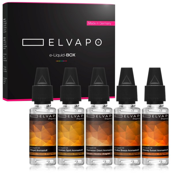 5 x 10ml Premium e-Liquid-BOX 5 mit Nikotin