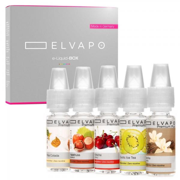 5 x 10ml Premium Plus e-Liquid-BOX 2 ohne Nikotin