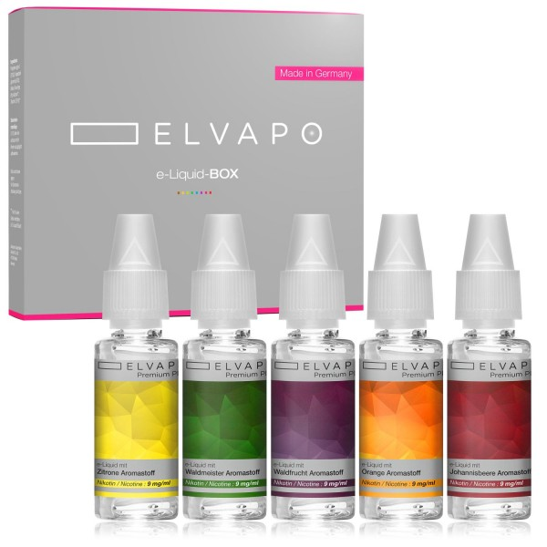 5 x 10ml Premium Plus e-Liquid-BOX 7 mit Nikotin