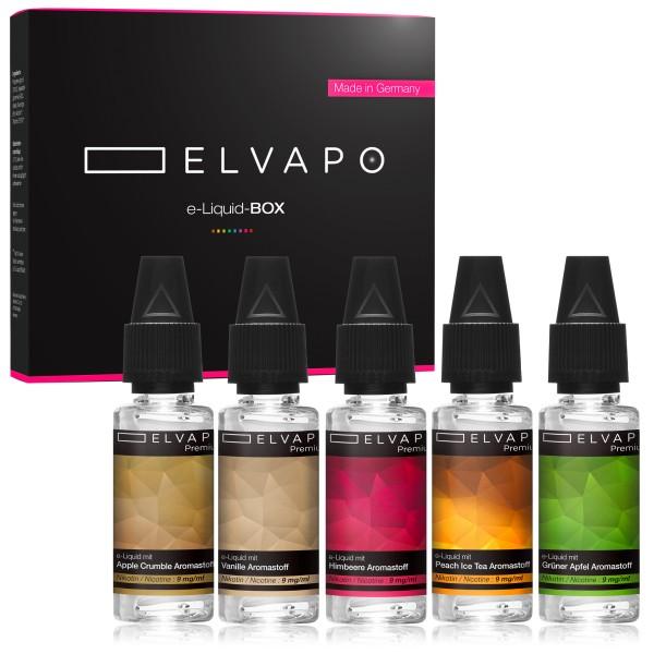 5 x 10ml Premium e-Liquid-BOX 9 mit Nikotin