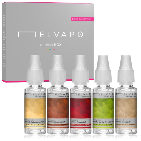 5 x 10ml Premium Plus e-Liquid-BOX 2 mit Nikotin