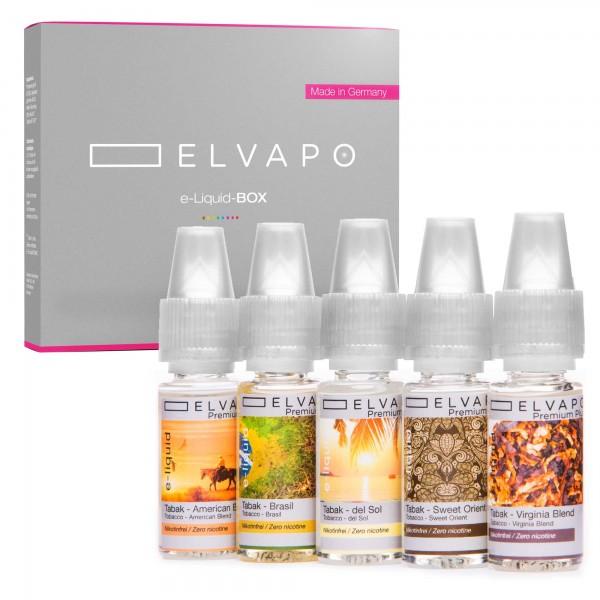 5 x 10ml Premium Plus e-Liquid-BOX 10 ohne Nikotin