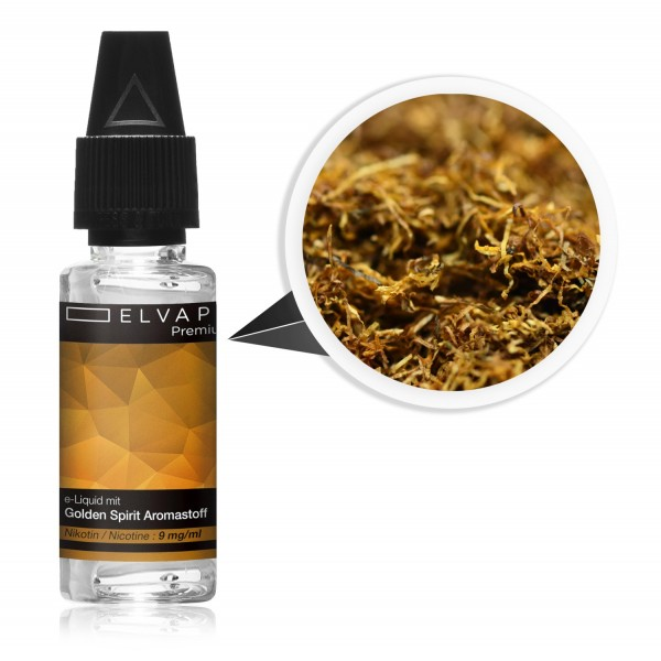 Premium E-Liquid - Tabak - Golden Spirit (mit Nikotin)