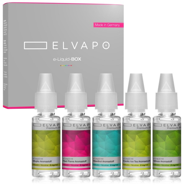 5 x 10ml Premium Plus e-Liquid-BOX 6 mit Nikotin