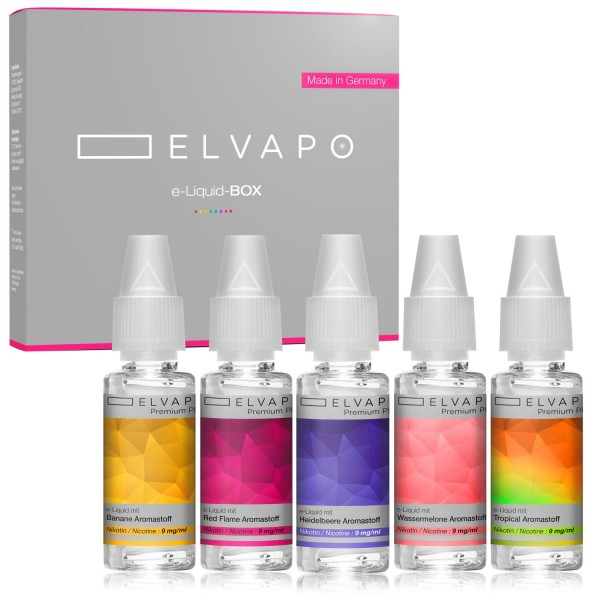 5 x 10ml Premium Plus e-Liquid-BOX 3 mit Nikotin