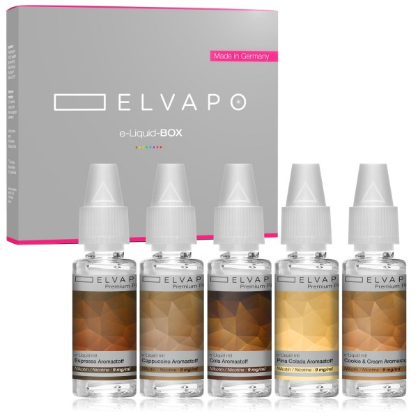 5 x 10ml Premium Plus e-Liquid-BOX 8 mit Nikotin