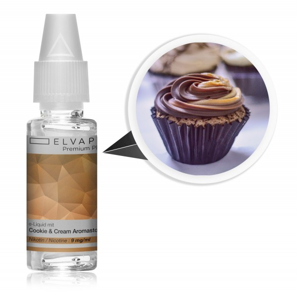Premium Plus E-Liquid - Cookie & Cream (mit Nikotin)