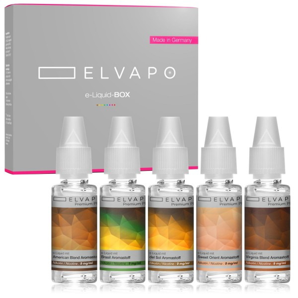 5 x 10ml Premium Plus e-Liquid-BOX 10 mit Nikotin