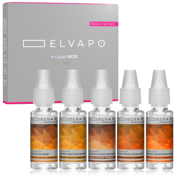 5 x 10ml Premium Plus e-Liquid-BOX 5 mit Nikotin