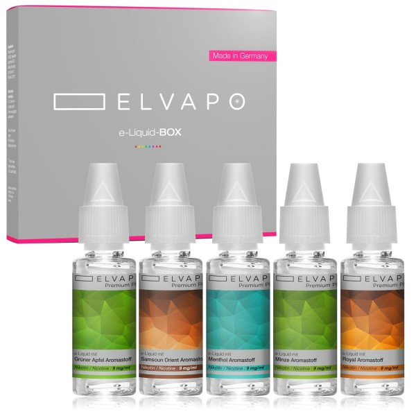 5 x 10ml Premium Plus e-Liquid-BOX 1 mit Nikotin