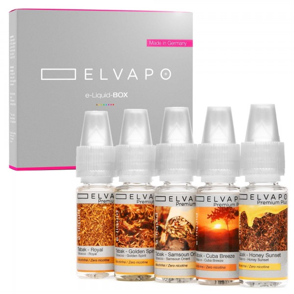 5 x 10ml Premium Plus e-Liquid-BOX 5 ohne Nikotin