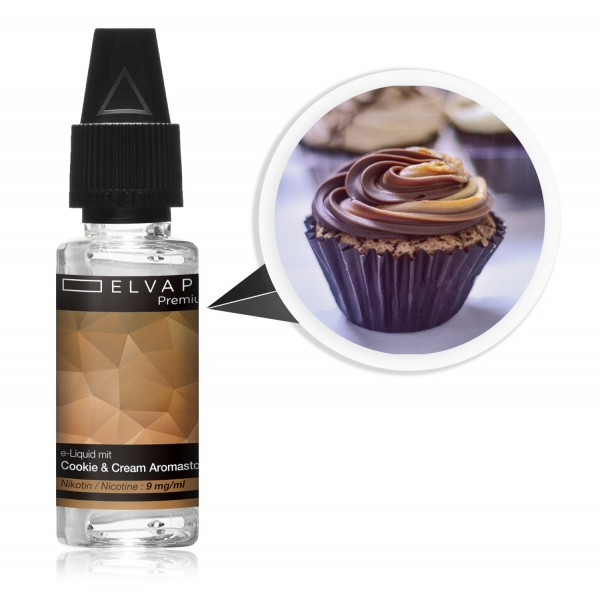 Premium E-Liquid - Cookie & Cream (mit Nikotin)