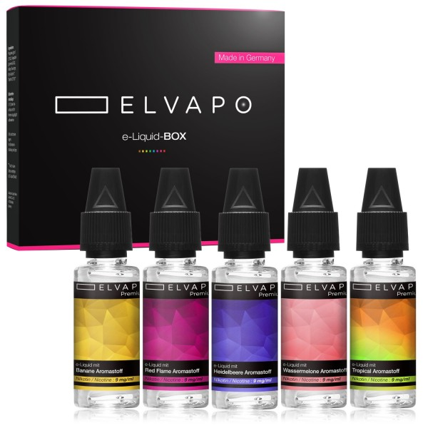 5 x 10ml Premium e-Liquid-BOX 3 mit Nikotin
