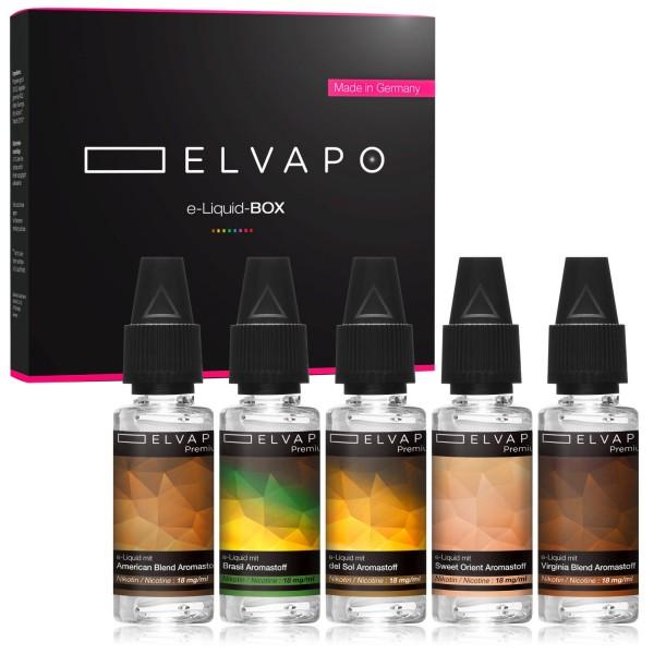 5 x 10ml Premium e-Liquid-BOX 10 mit Nikotin